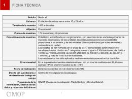 FICHA TÉCNICA - Injuve, Instituto de la Juventud