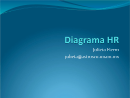 Diagrama HR - Instituto de Astronomía