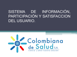 SISTEMA DE INFORMACION Y ATENCIÓN AL USUARIO SIAU