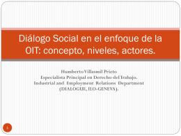La cuestión del Diálogo Social: una visión desde
