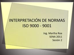 INTERPRETACIÓN DE NORMAS ISO 9000