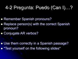 ¿Qué tal en la clase de español? ¿Recibiste una