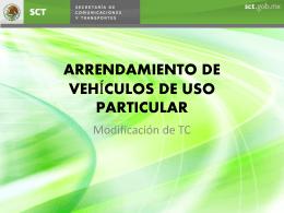 ARRENDAMIENTO DE VEHÍCULOS DE USO PARTICULAR