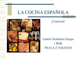 LA COCINA ESPAÑOLA - Uniwersytet Śląski w