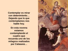 Padre Mío, Calasanz Mi maestro, luz y guía. Mírame