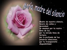 María, madre del silencio