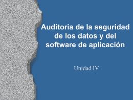 Auditoría de la seguridad de los datos y del