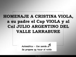Homenaje a Cristina Viola, al Capitán Viola y al