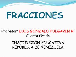 FRACCIONES - Informatemática | LUIS GONZALO