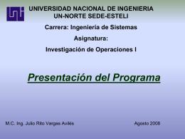 Conjuntos Convexos - MSc. Ing. Julio Rito Vargas