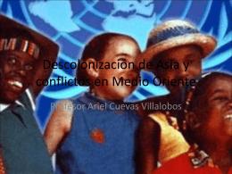 Descolonización de Asia, África y conflictos en
