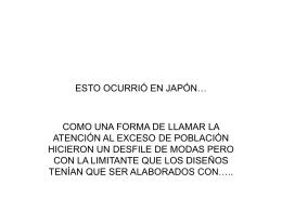 ESTO OCURRIÓ EN JAPÓN…