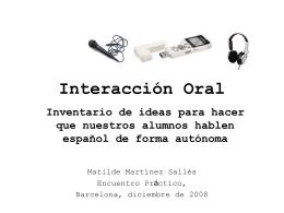 Interacción oral - Encuentro Práctico de