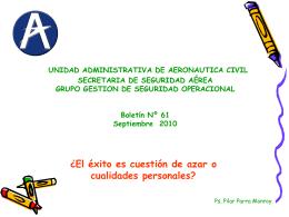 Secretaria de Seguridad Aèrea Grupo Prevenciòn de