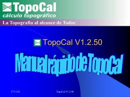 Presentación de TopoCal V1.2.40