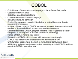 COBOL - Softsmith