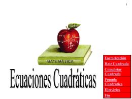Solución Algebraica de Ecuaciones