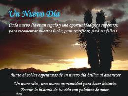 Un nuevo día - Devocionales Cristianos