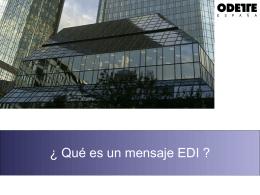 Qué es un mensaje EDI ?