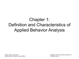 Chapter 1: Definition and Characteristics of