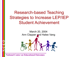 Research-based Teaching Strategies to increase