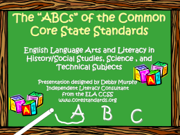 "The ""ABCs"" of the Common Core State Standards"
