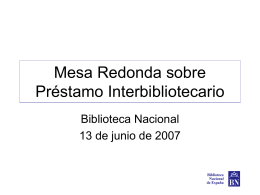 Mesa Redonda sobre Préstamo Interbibliotecario