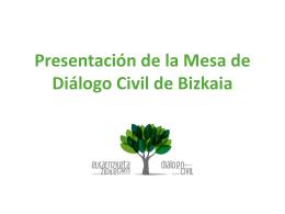 Presentación de la Mesa de Diálogo Civil de