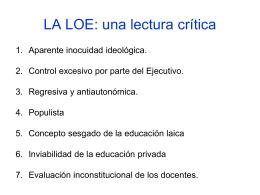 PROYECTO DE LEY DE EDUCACIÓN SUPERIOR Una