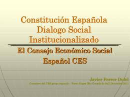 Constitución Española Dialogo Social
