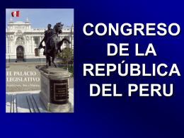 MODERNIZACIÓN DEL CONGRESO DE LA REPÚBLICA
