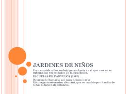 JARDINES DE NIÑOS