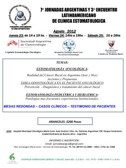 Diapositiva 1 - Sociedad Argentina de Cancerología