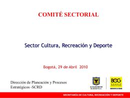 Diapositiva 1 - Secretaría de Cultura, Recreación