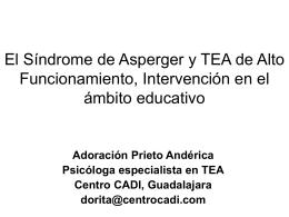 El Síndrome de Asperger y TEA de Alto