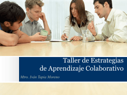 Presentación del trabajo en equipo
