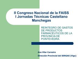 II Congreso Nacional de la FAISS I Jornadas