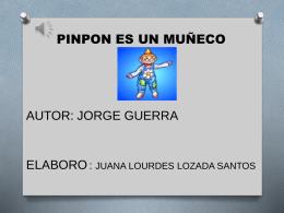 Pimpon es un muñeco muy guapo y de cartón se lava