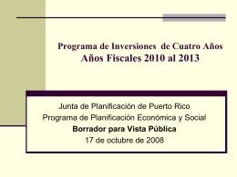 Programa de Planificación Física Plan. Silvia