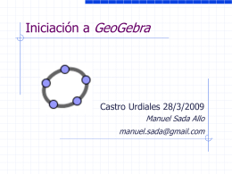 Geometría con Cabri en las aulas - I.G.C. -