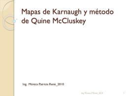 Mapas de Karnaugh y método de Quine McCluskey