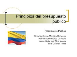 Principios del presupuesto público