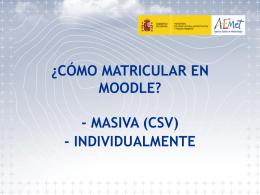 Cómo Matricular de forma MASIVA en MOODLE (CSV)