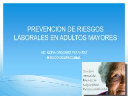 Prevención de riesgos laborales en adultos mayores