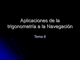Aplicaciones de la trigonometría a la Navegación
