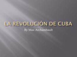 La Revolución de Cuba