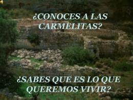 CONOCES A LAS CARMELITAS - DIÓCESIS DE HUESCA -