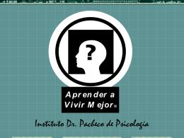 La Psicología Clínica - Instituto Dr. Pacheco de