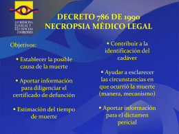 Decreto 786 de 1990 Necropsia médico legal