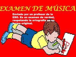 EXAMEN DE MÚSICA